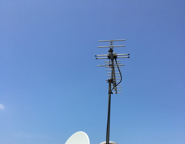 滋賀県東部の東近江市でテレビアンテナ設置作業【ご依頼】