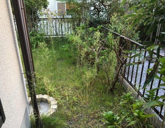 滋賀県大津市の空き家管理、お庭(戸建て)の草刈り作業【ご依頼】