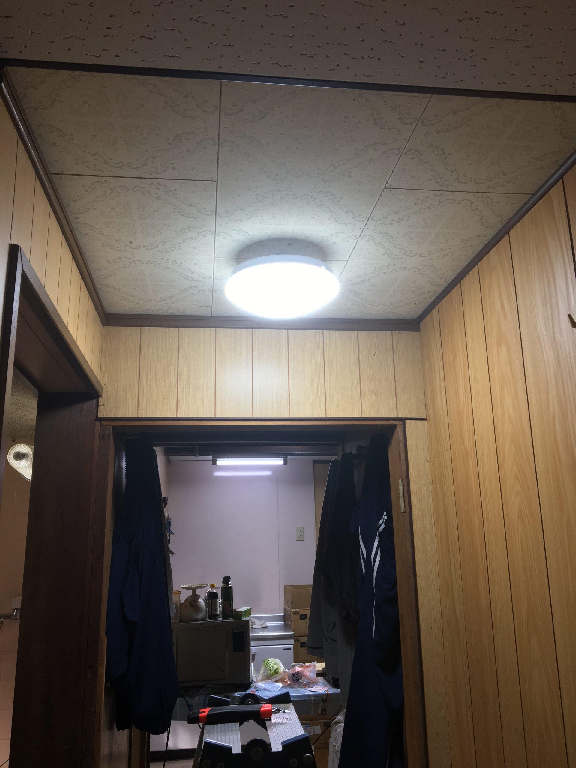 滋賀県近江八幡市の電気工事(照明交換)作業【ご依頼】