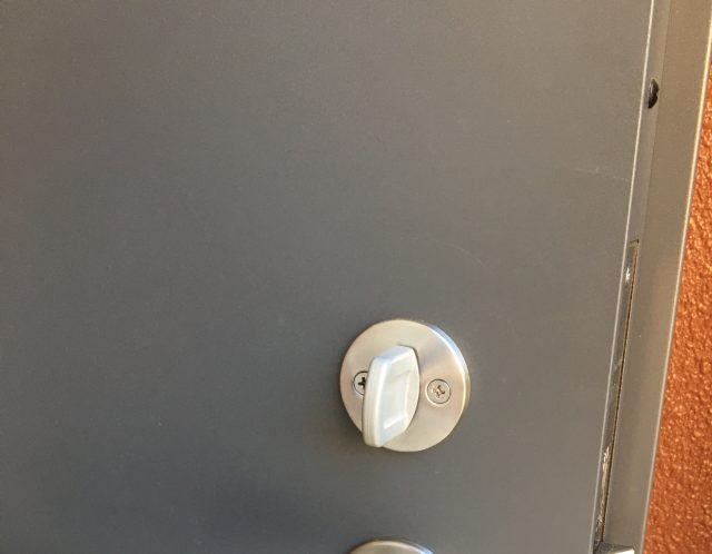 滋賀県草津市の鍵交換/賃貸アパート玄関のカギ交換/防犯対策【ご依頼】