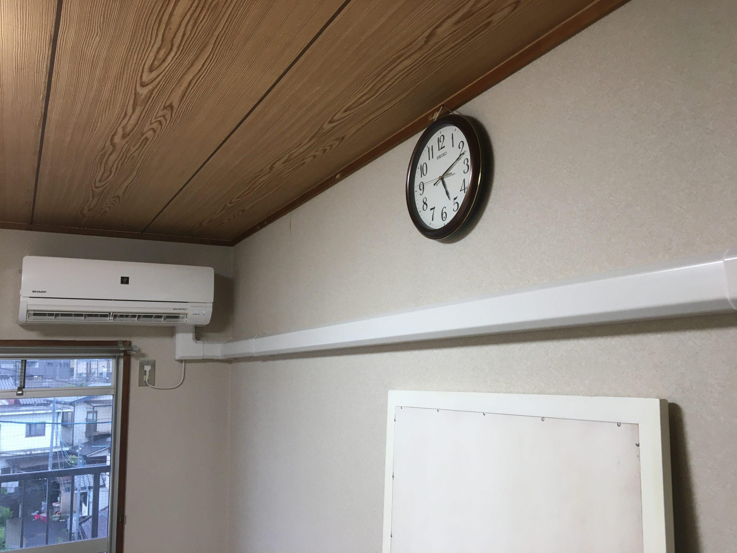 滋賀県大津市の分譲マンションのエアコン取り付け/室内化粧カバーや困難工事は便利屋HEROでスッキリ施工!大型リフォーム時と合わせた施工を紹介