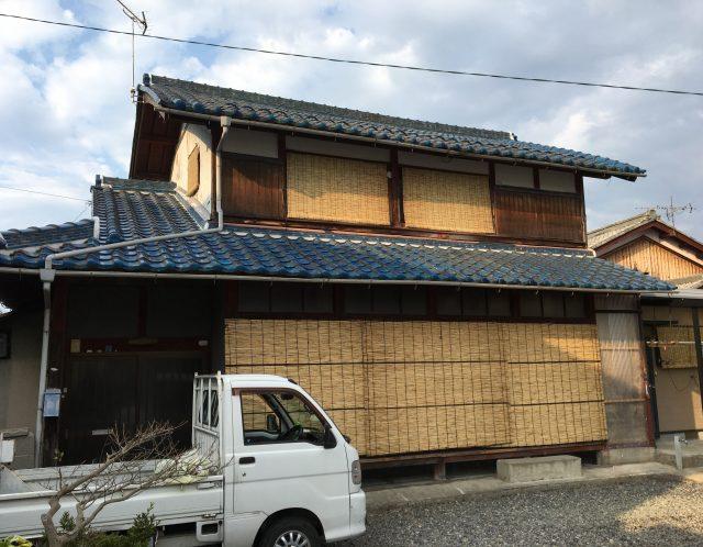 滋賀県野洲市のすだれ交換作業と草刈り作業/2階の窓もしっかり交換/高所作業は得意です【ご依頼】