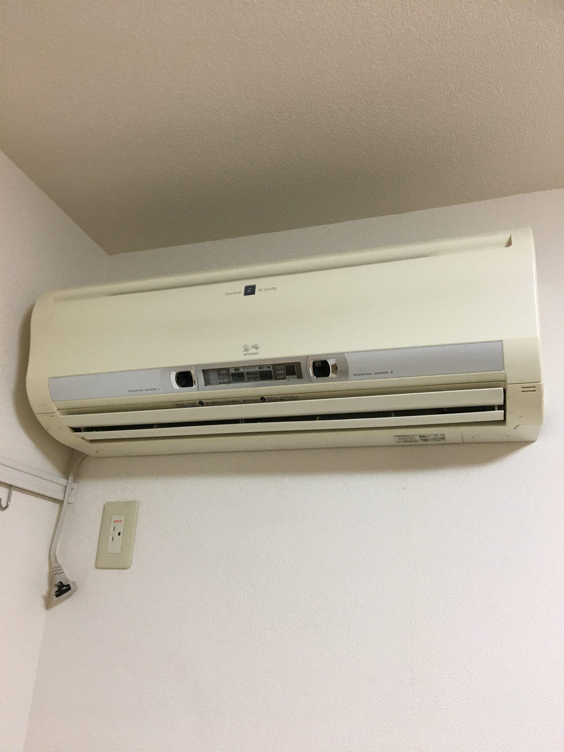 滋賀県近江八幡市の賃貸アパートのエアコン移設作業/使えるものは安く移設して家庭の出費も効率よく!【ご依頼】
